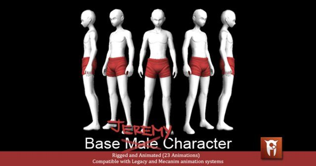 Jeremy Base Male Character Free 3d Model X C4d Obj 3ds Fbx