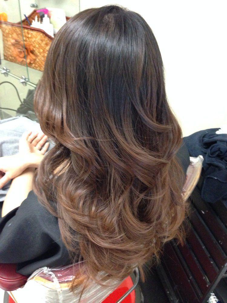 Hair Color Dark Brown To Dark Ash Blonde To Very Light Ash Blonde