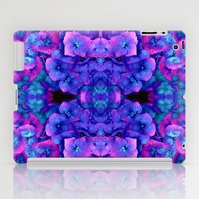 Future Floral Blue iPad Case + free shipping