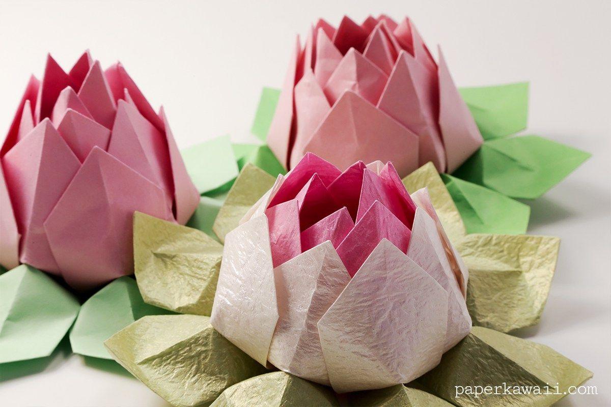 Modular Origami Lotus Flower Tutorial Origami Tutorial Lets Make It