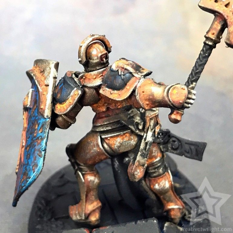 How To Paint A Realistic Rust Effect For Miniatures Tutorial