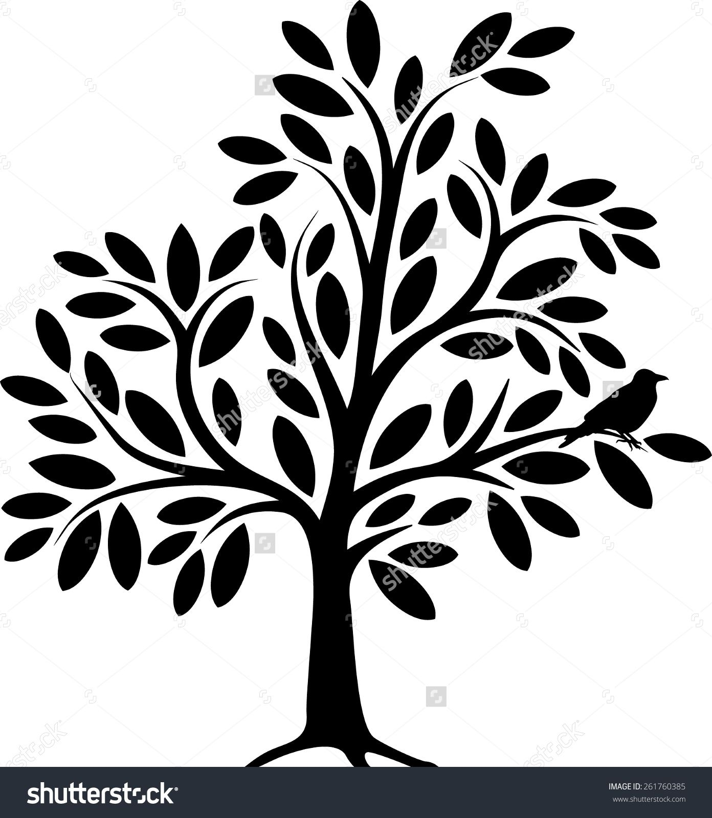 decor decorative vectorstock free vector royalty tree image