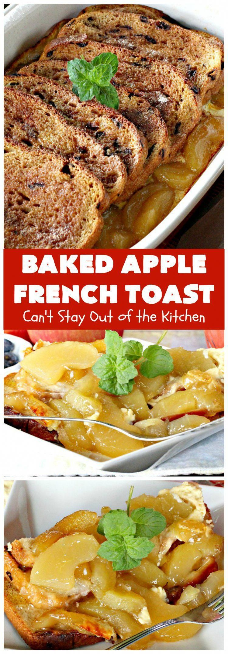 Baked Apple French | Can't Stay Out of the Kitchen | this quick & easy takes 10 minutes to make & 30 minutes to bake. It's terrific for a or