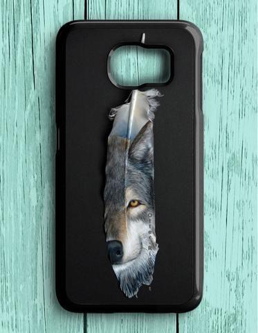Wolf Feather Animal Samsung Galaxy S6 Case