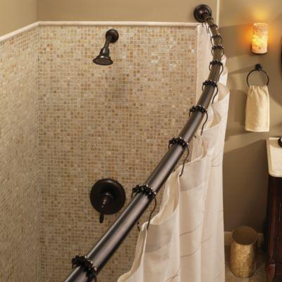 Moen Adjustable Curved Old World Bronze Shower Rod