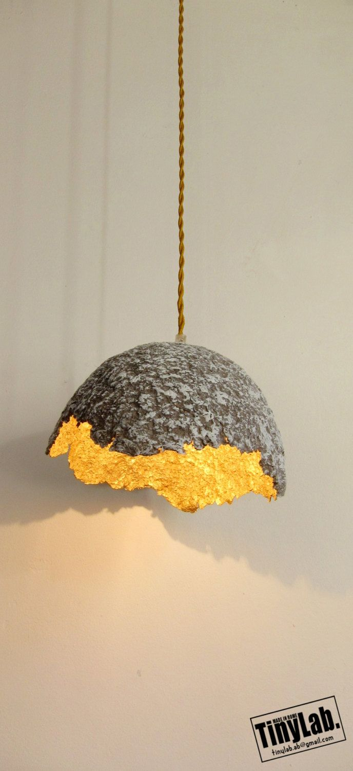 EGGSHELL ceiling lamp paper mache par TinyLabmadeinrome sur Etsy ... for Recycled Paper Lamp  150ifm