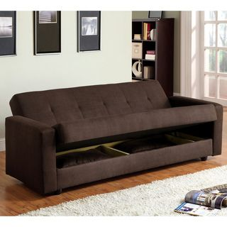 Slipcovers For Sofas Furniture of America Cozy Microfiber Sofa Bed with Storage Overstock Shopping Great