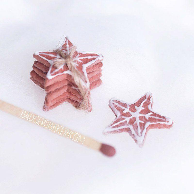 Miniature CHRISTMAS COOKIE Bundle, Gingerbread Cookies for Dolls like YoSD BJD, Blythe