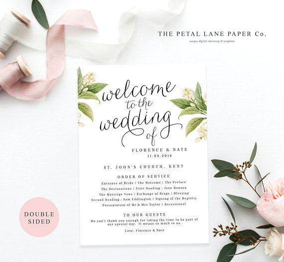 Wedding Program Templates Programs Ceremony Invitations Bridesmaid Cards Bridesmaids Diy Printable