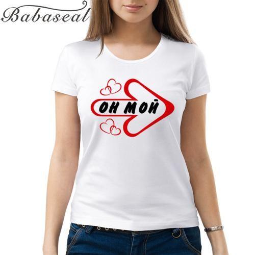 Babaseal Top Brand T Shirt Tee Femme Kpop T Shirt Harajuku Bts Kawaii Tshirt He Is Mine Letter T Shirt Tumblr Womens Top T-shirt
