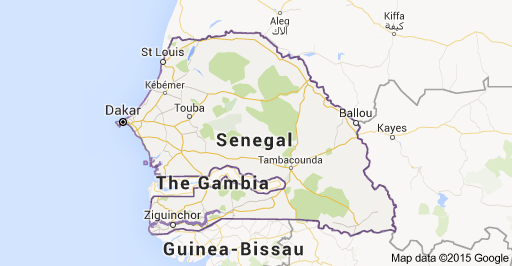 Map of Senegal Kids Study AfricaMoroccoAlgeriaGhanaSenegal
