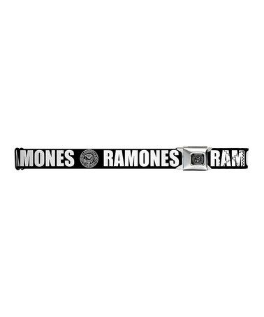 This White & Black The Ramones Seat Belt-Style Belt is perfect! #zulilyfinds