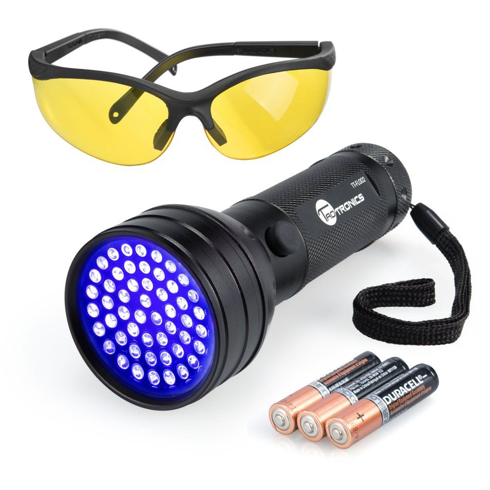 ec83a7a982 Black Light TaoTronics UV Flashlights 51 Ultravilot Urine Detector for dogs  Free UV Sunglasses and Duracell Batteries included Pet Stain Detector Dog  Urine ...