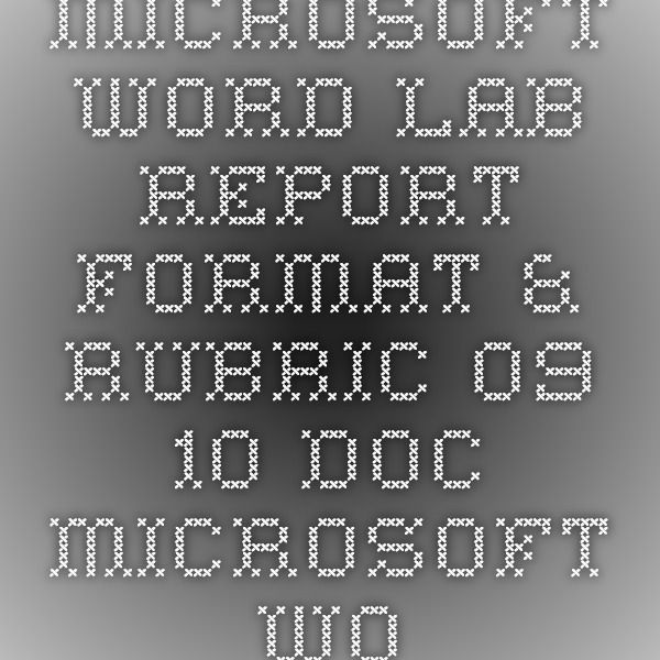 microsoft word lab report template