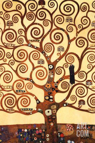 Arbre De Vie De Klimt : arbre, klimt, Art.fr, Reproduction, D'art, 'L'arbre, 1909,, Fresque, Palais, Stoclet', Gustav, Klimt, Levensboom,, Klimt,