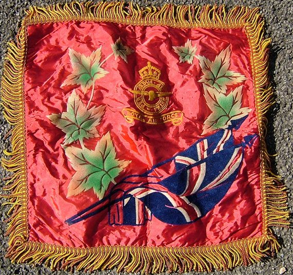 1940s WWII Era British RAF Cushion Cover  Royal by BiminiCricket, $45.00