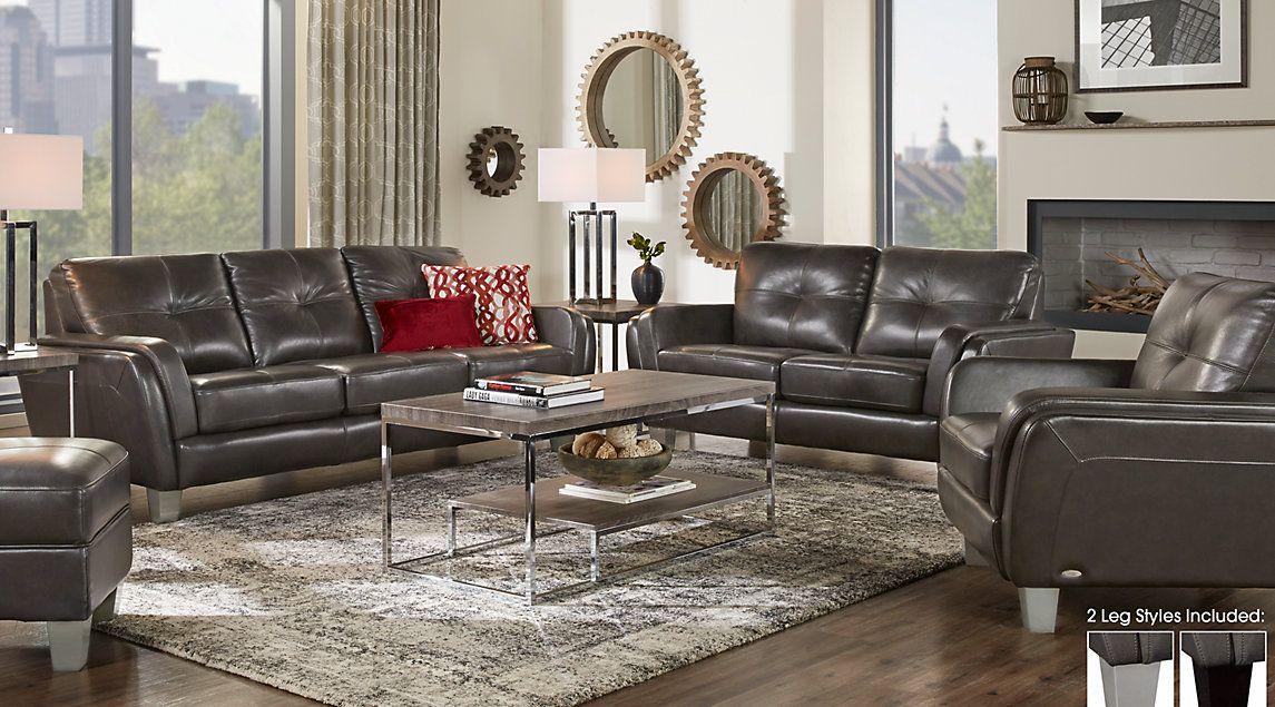 black leather living room furniture sets%0A Leather Living Room Furniture Sets  Black  White  Brown
