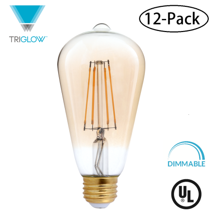 Household Essentials Dimmable Light Bulbs Edison Lighting