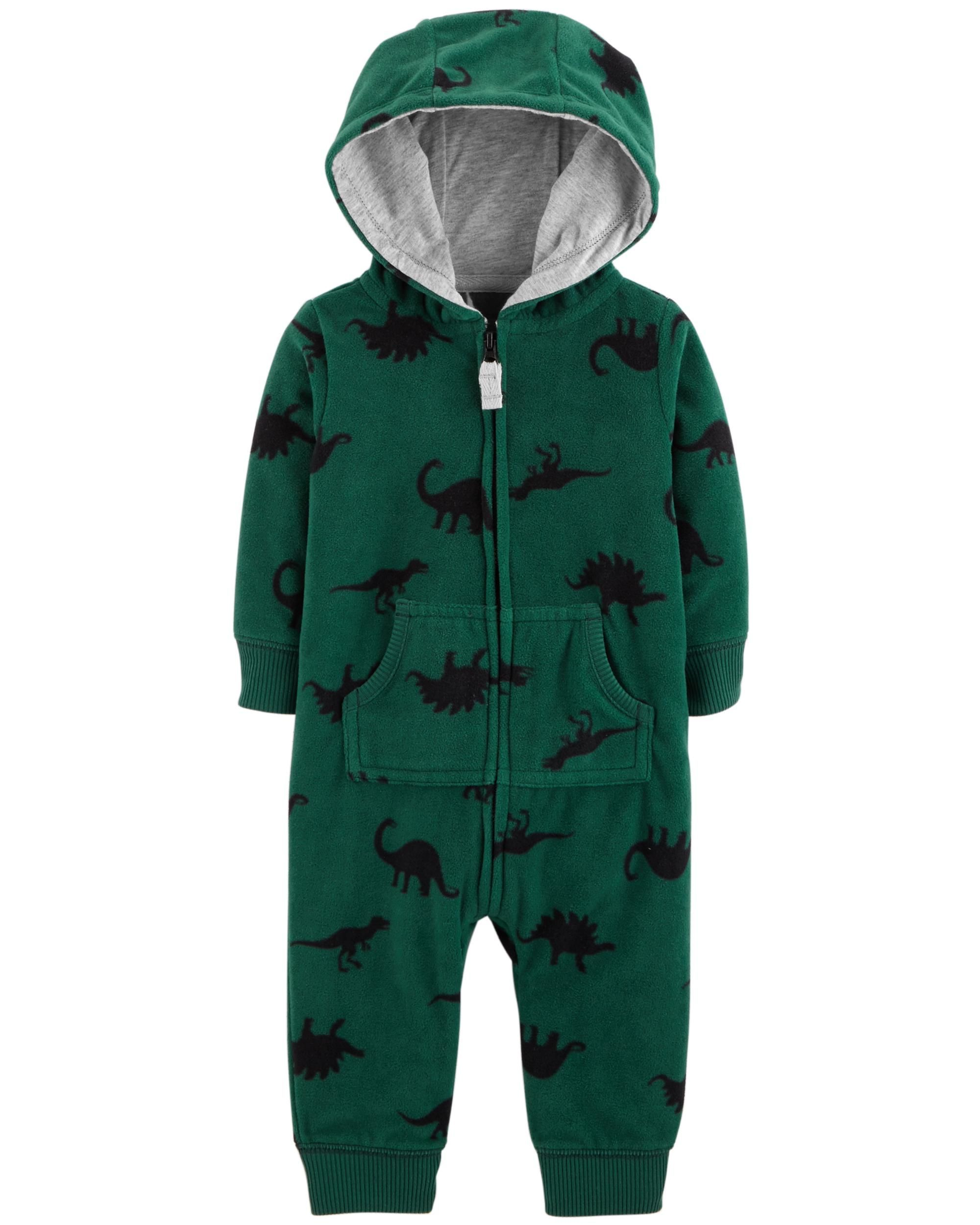 0b14bfa207b3 Dinosaur Hooded Fleece Jumpsuit