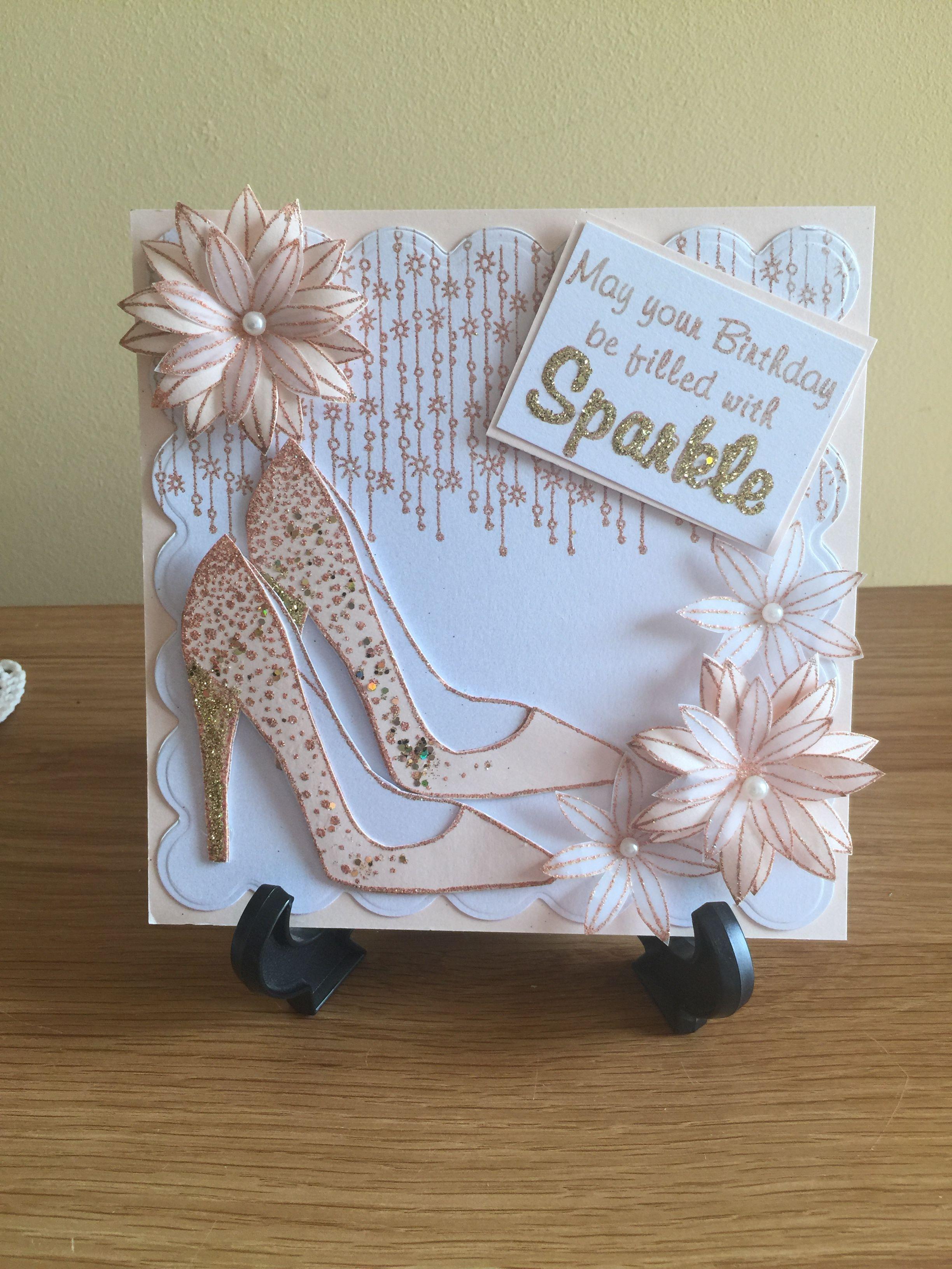 Shoe Birthday Card Birthday Cards For Women Chloes Creative Cards Girl Birthday Cards