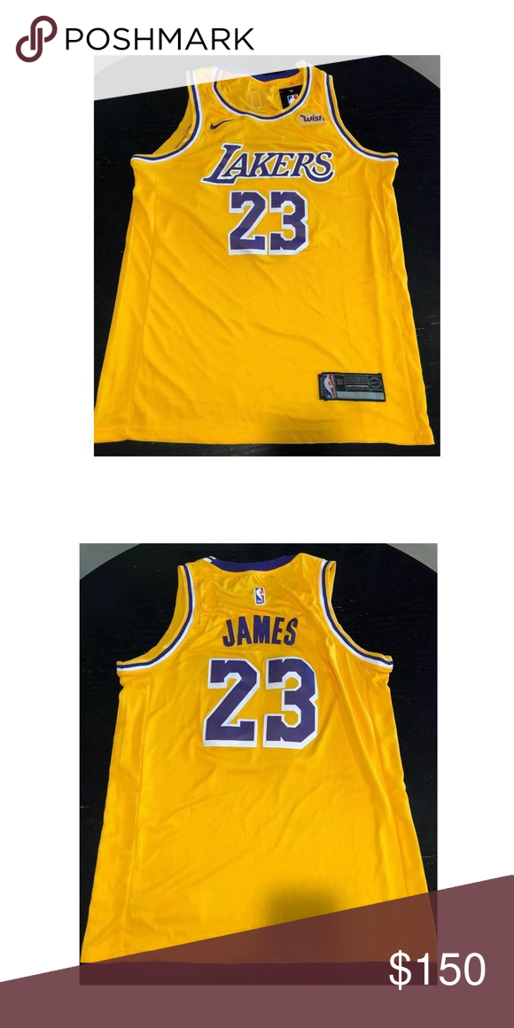 8cef2510da9 Lenron James Laker Jersey Size Large! Lebron james NWT Size Large Lakers  Jersey Nike Tops Tees - Short Sleeve