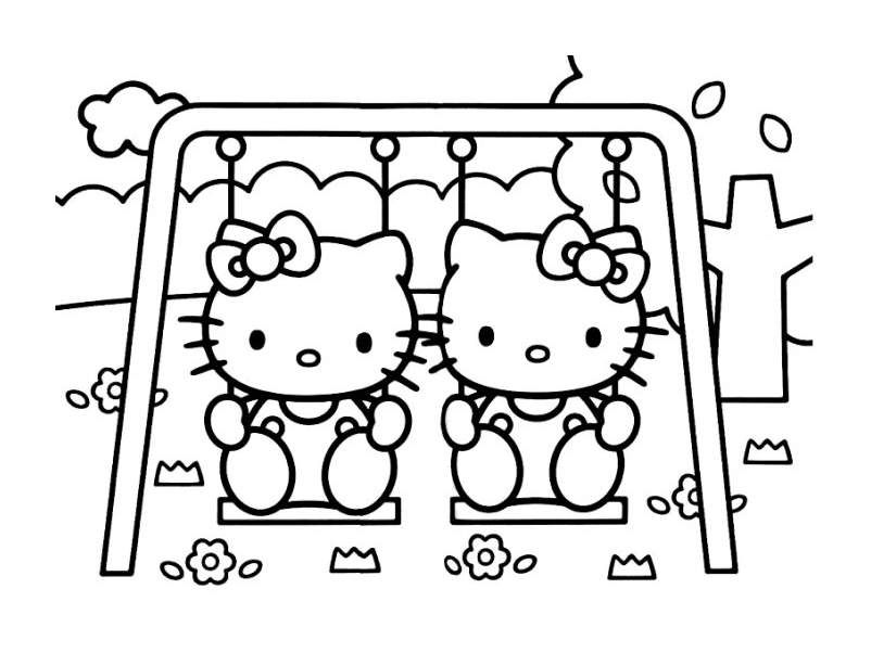 Amazing Coloriages Hello Kitty Gratuits A Imprimer #12: Pour Imprimer Ce Coloriage Gratuit «coloriage-hello-kitty-2», Cliquez