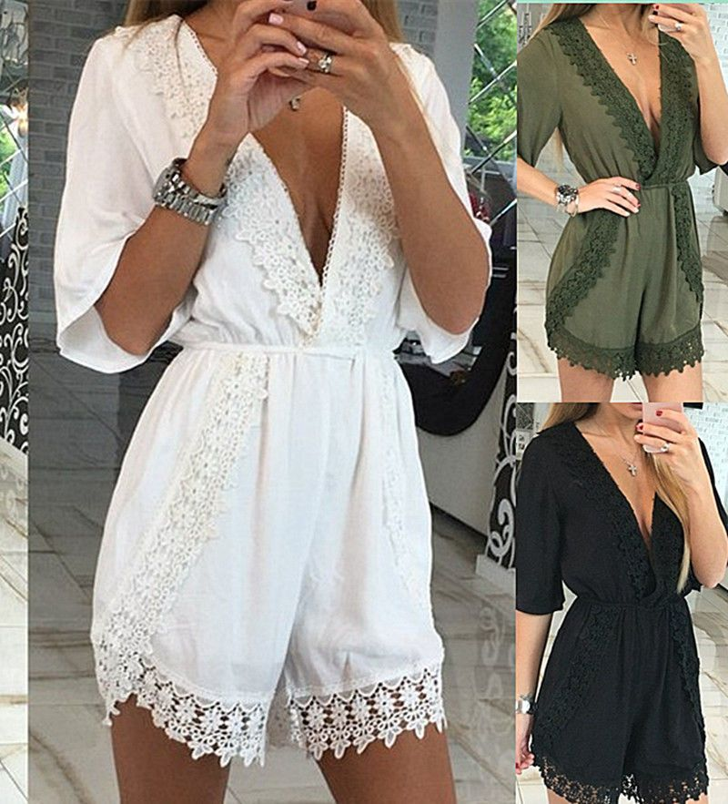 official store release date: variety design Details about Summer Womens Mini Playsuit Ladies Crochet ...