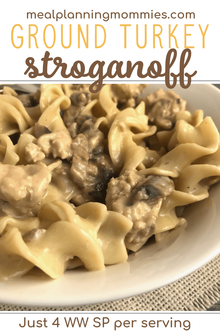 The Best Ground Turkey Stroganoff Recipe Uses Beef Gravy Sour Cream Ground T Ground Turkey Recipes Healthy Ground Turkey Stroganoff Turkey Stroganoff Recipe