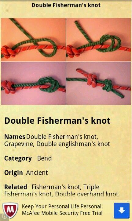 Double fishermen knot paracord