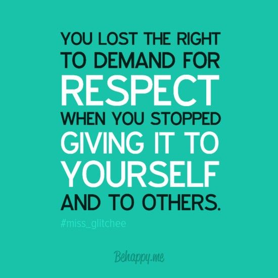 giving respect to others