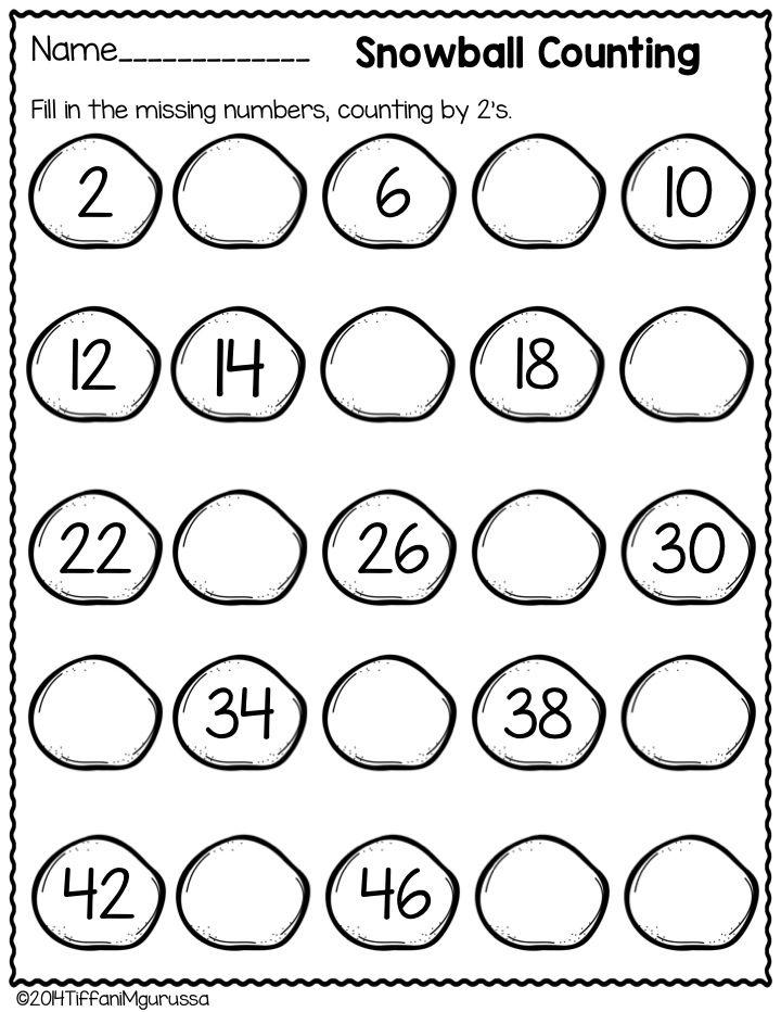 Winter Math for Kindergarten | Math activities, Kindergarten and Math