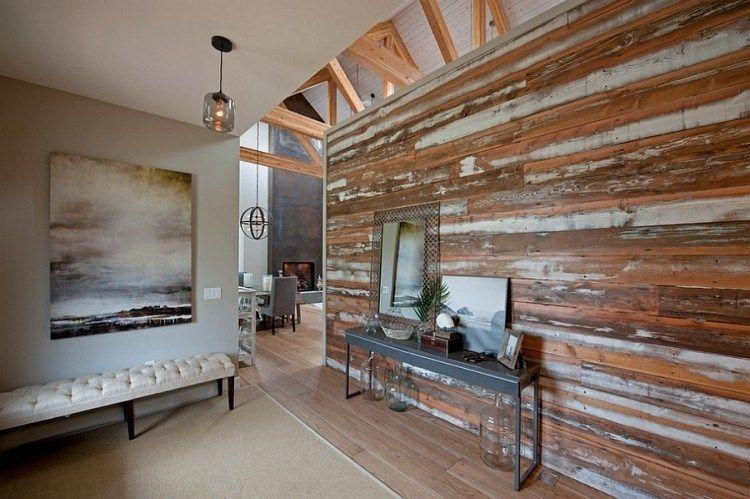 Bois De Recuperation Decoration décoration en bois - comment réchauffer l'intérieur en hiver?