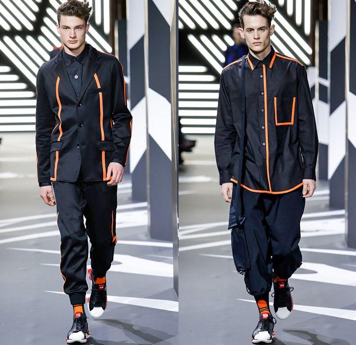 quality design 7e1f2 21f51 Y-3 Yohji Yamamoto Adidas 2014-2015 Fall Autumn Winter Mens Runway Looks  Fashion - Mode à Paris Masculine Fashion Week Défilés - Sportswear Jogging  ...