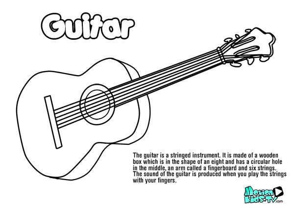 Pin on string instrument coloring pages