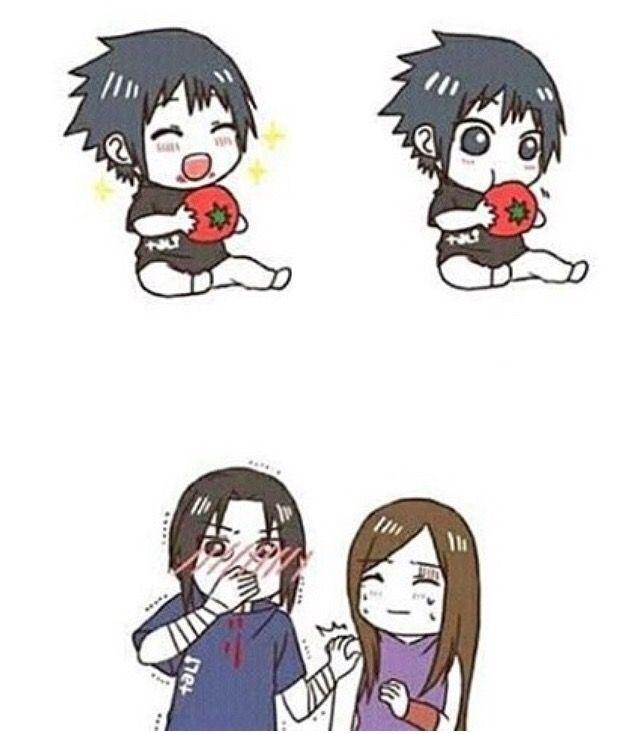 Itachi Izumi And Baby Sasuke Itachi Naruto Naruto Uzumaki
