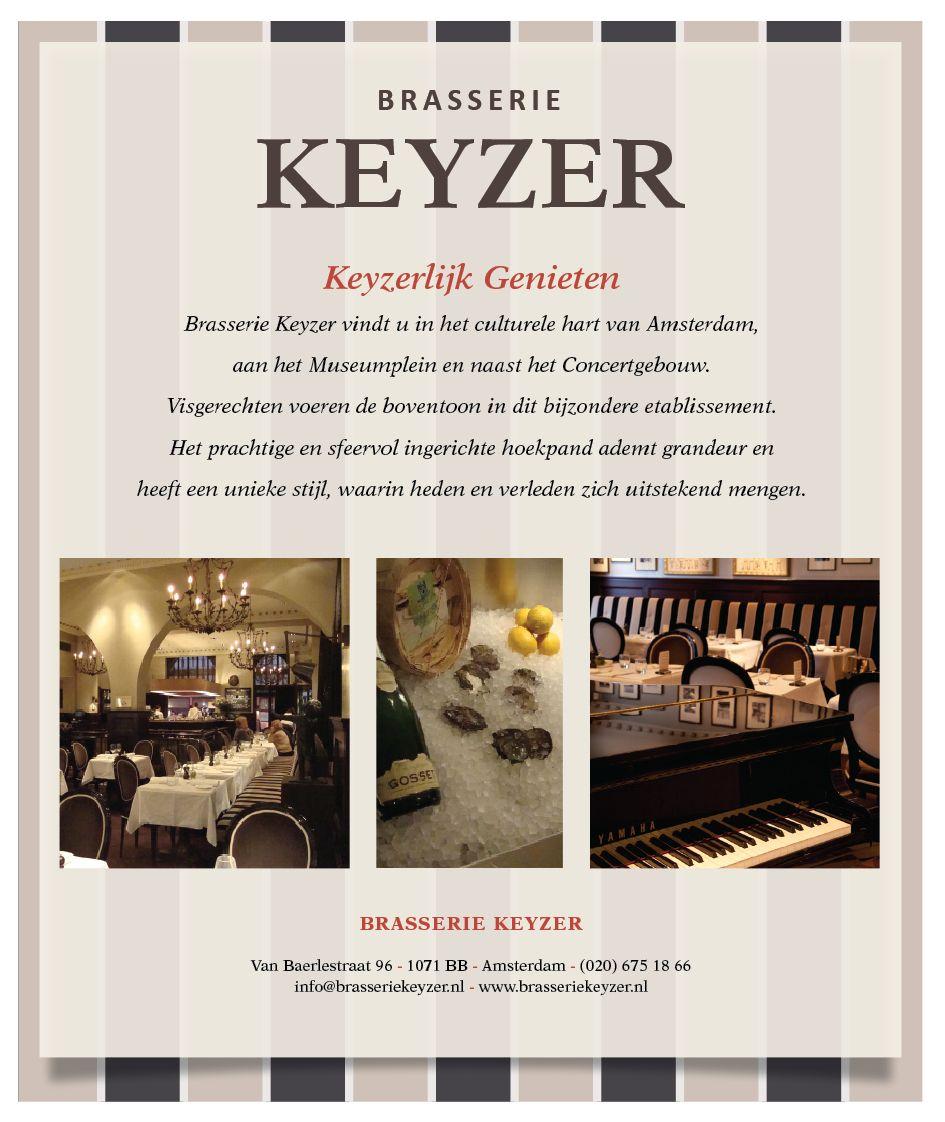 Advertentie voor Brasserie De Keyzer