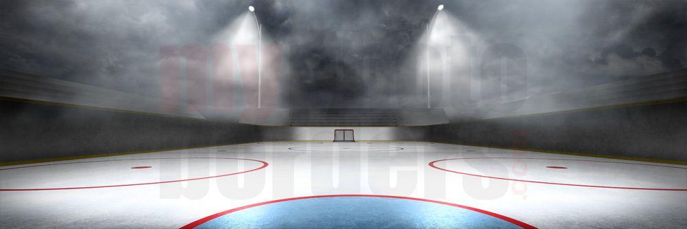 Digital Background Outdoor Hockey Panoramic Green Screen Backdrop Panoramic Background