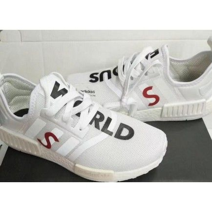 World Famous Adidas NMD Human Race Custom White   XR1 adidas