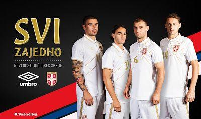 brand new b6543 bcd87 FlagWigs: Serbian National Team Away Jersey Shirt Kit 2014 2 ...