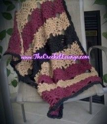 Pineapple Crochet Throw | AllFreeCrochetAfghanPatterns.com