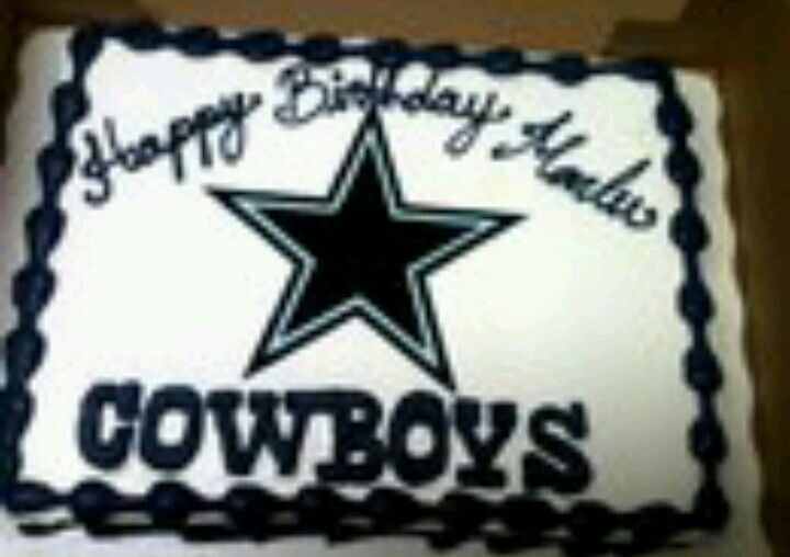 Dallas Cowboys Cake for Ants birthday Party Party Pinterest