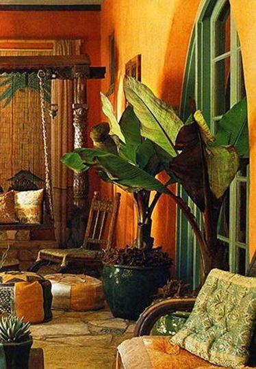 Porch in Spanish Orange and Green Orange Decor in 2018 Pinterest