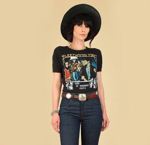 Fleetwood Mac Shirt Vintage tshirt 1979 The Tusk Tour Concert Tee 1970s Funny