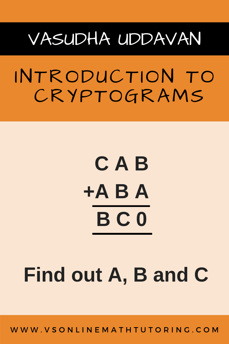 Math Enrichment Activites Cryptogram Cryptarithm Math Puzzles