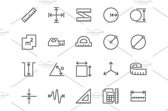Line Measure Icons Icon, Line icon, Business icon