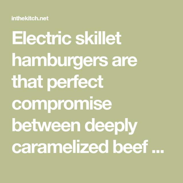 Photo of Electric Skillet Hamburgers