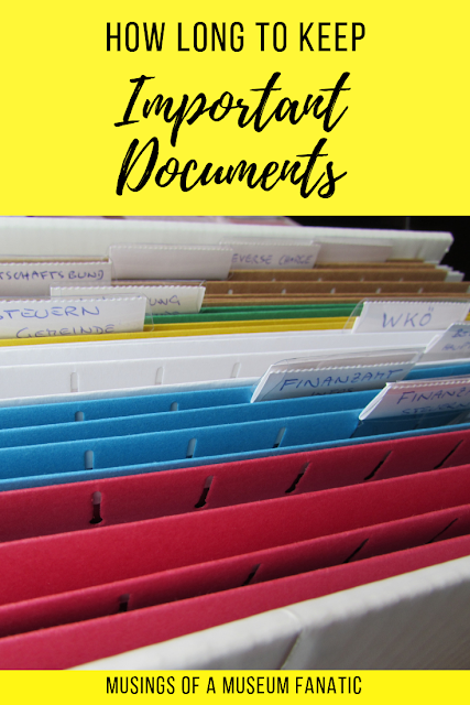 How Long to Keep Important Documents
