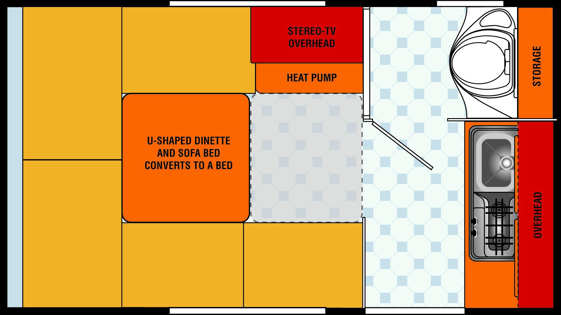 northstar escape pod truck camper floorplan rv u built camper