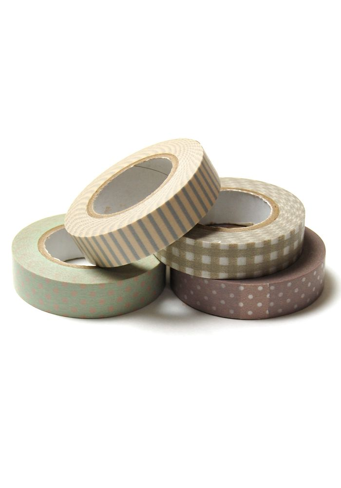 Japanese Tape Set: Taupe - $14.99 : Spotted Moth, Chic and sweet clothing and accessories for women