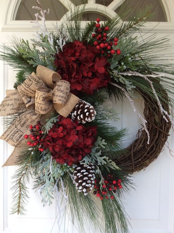 Adornos de navidad para las puertas ideas originales - Guirnaldas de navidad ...